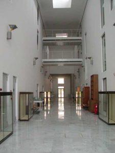 Archivo Histórico Provincial de Málaga. Detalle de patio cubierto interior (foto Rodríguez Marín)