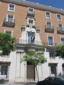 Antiguo Palacio de Justicia. Fachada principal (foto: G. Marín)