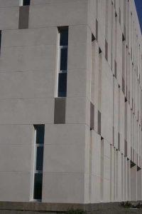 Centro Andaluz de Investigación en Tecnologías Informáticas (CAITI). Detalle (foto Francisco Rodríguez Marín)