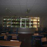 Antigua Universidad Laboral. Detalle de un aula (foto Francisco Rodríguez Marín)