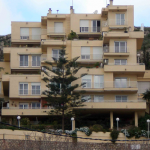 Edificio Casa Alborán. Fachada trasera. (Foto Francisco García Gómez).