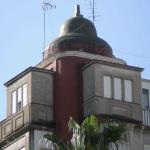 """Edificio """"La Campana"""". Detalle remate torreón. (Foto Francisco García Gómez)."""
