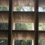 ntigua Universidad Laboral. Detalle de los elementos reguladores de la luz solar (foto Francisco Rodríguez Marín)