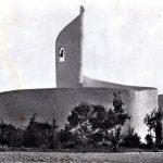 Postal de la Ciudad Sindical: vista parcial y edificio de recepción