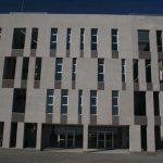 Centro Andaluz de Investigación en Tecnologías Informáticas (CAITI). Detalle de la fachada principal y acceso (foto Francisco Rodríguez Marín)