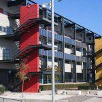 Escuela de Ingenierías de la UMA. Fachada principal. Vista parcial (foto Rodríguez Marín)