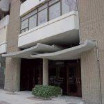 Edificio viviendas para trabajadores de Obras Públicas. (Foto Francisco García Gómez). Detalle fachada meridional. (Foto Francisco García Gómez).