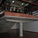 Antigua Universidad Laboral. Detalle de la escalera de la biblioteca (foto Francisco Rodríguez Marín)