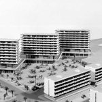 Maqueta de una parte de la urbanización Eurosol, en Torremolinos (Archivo Rafael La-Hoz).