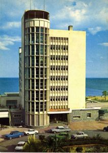 Hotel Pez Espada en una postal de época.