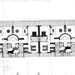 Plantas 1ª y 2ª de uno de los bloques tipo de la 1ª fase del proyecto de urbanización Eurosol, en Torremolinos (Archivo Rafael de La-Hoz).