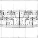 Planta de uno de los bloques destinados a apartotel de la 2ª fase del proyecto de urbanización Eurosol, en Torremolinos (Archivo Rafael de La-Hoz).