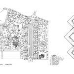 Urbanización Playamar, Torremolinos. Plano de conjunto y planta tipo de torre de apartamentos (Estudio Lamela).
