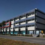 Escuela de Ingenierías de la UMA. Detalle de la fachada principal (foto Rodríguez Marín)