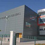 Escuela de Ingenierías de la UMA. Detalle de la fachada principal(foto Rodríguez Marín)