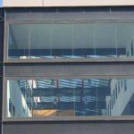 Escuela de Ingenierías de la UMA. Patio interior cubierto. Detalle (foto Rodríguez Marín)