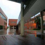 Facultad de Ingeniería en Telecomunicaciones de la UMA. Detalle del interior (foto Rodríguez Marín)