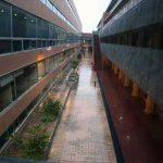 Facultad de Ingeniería en Telecomunicaciones de la UMA. Patio abierto interior (foto Rodríguez Marín)