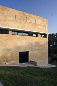 Edificio FORMAN en el Parque Tecnológico de Andalucía. Detalle de la fachada lateral (foto Rodríguez Marín)