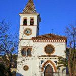 Iglesia Parroquial de Ntra. Sra. de los Dolores (Puerto de la Torre). Fachada principal de la iglesia antigua (foto Rodríguez Marín)