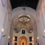 Iglesia Parroquial de Ntra. Sra. de los Dolores (Puerto de la Torre). Interior de la iglesia antigua hacia la cabecera (foto Rodríguez Marín)
