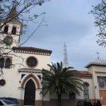 Iglesia Parroquial de Ntra. Sra. de los Dolores (Puerto de la Torre). Fachada principal. Vista general (foto Rodríguez Marín)