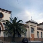 Iglesia Parroquial de Ntra. Sra. de los Dolores (Puerto de la Torre). Fachada principal. Iglesia antigua y nueva ampliación (foto Rodríguez Marín)