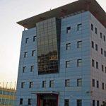 Laboratorio Universitario de Investigación en el Parque Tecnológico de Andalucía. Fachada lateral (foto Rodríguez Marín)
