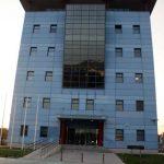 Laboratorio Universitario de Investigación en el Parque Tecnológico de Andalucía. Fachada principal (foto Rodríguez Marín)