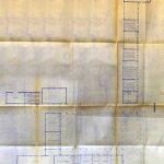 ca. 1961. Módulo perpendicular a Avenida Dr. Marañón y paralelo a la Escuela de Comercio. Archivo Fundación Miguel Fisac.