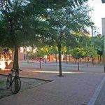 Residencia Universitaria de la UMA. Espacio abierto interior (foto Rodríguez Marín)