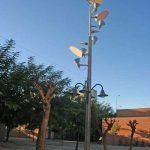Residencia Universitaria de la UMA. Detalle de mobiliario urbano en espacio interior (foto Rodríguez Marín)