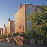 Residencia Universitaria de la UMA. Detalle de los blocks residenciales (foto Rodríguez Marín)