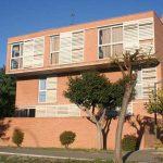 Residencia Universitaria de la UMA. Fachada posterior de uno de los blocks residenciales (foto Rodríguez Marín)