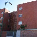 Edificio de viviendas en calle Escritor Antonio Soler nº.3. Fachada principal y acceso (foto Francisco Rodríguez Marín)
