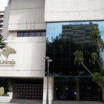 Edificio de Unicaja. Portada principal. (Foto Francisco García Gómez).